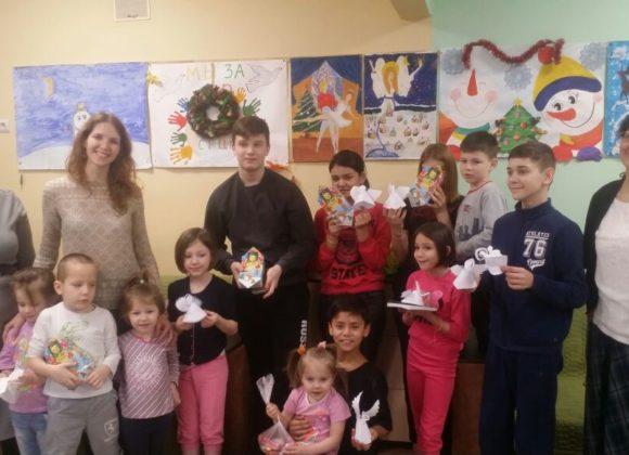 Поздравление с Рождеством Христовым детей в химкинском социально-реабилитационном центре